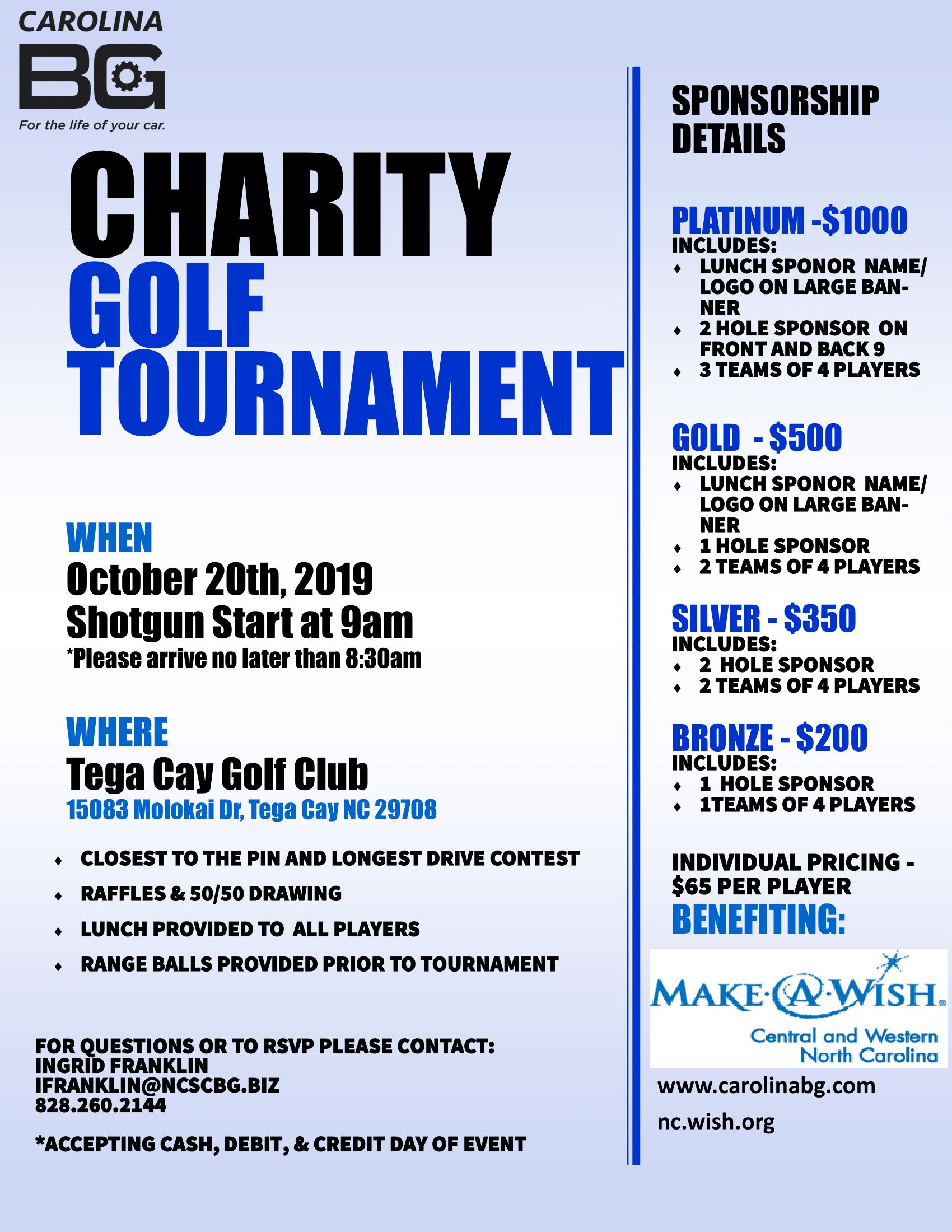 make a wish charity golf tournament